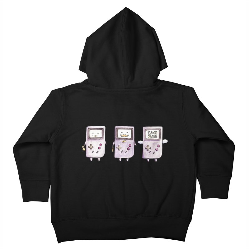 Life of a Game Boy Kids Toddler Zip-Up Hoody by Robotjunkyard