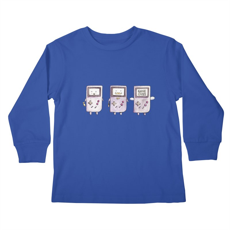 Life of a Game Boy Kids Longsleeve T-Shirt by Robotjunkyard