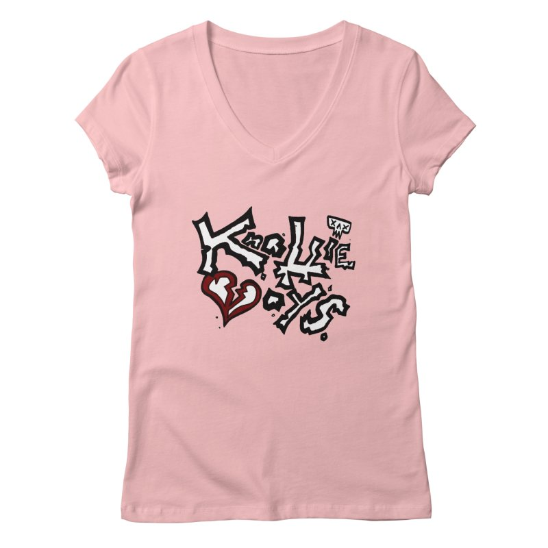 The Knottie Boys Logo #1 Women's V-Neck by RockIsland's Artist Shop