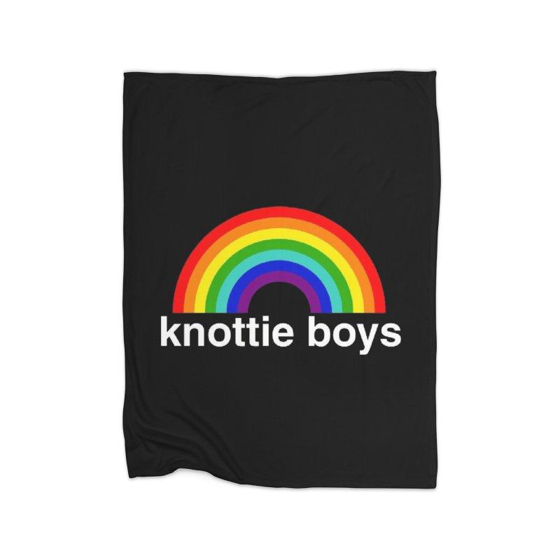 The Knottie Boys Logo #3 Home Blanket by RockIsland's Artist Shop