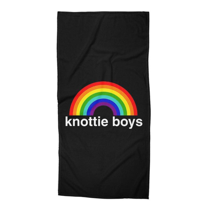The Knottie Boys Logo #3 Accessories Beach Towel by RockIsland's Artist Shop