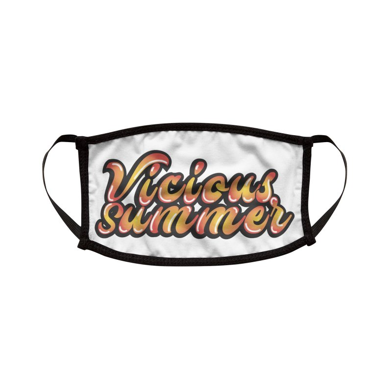 Vicious Summer Logo #1 Accessories Face Mask by RockIsland's Artist Shop