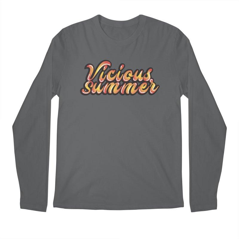 Vicious Summer Logo #1 Men's Longsleeve T-Shirt by RockIsland's Artist Shop