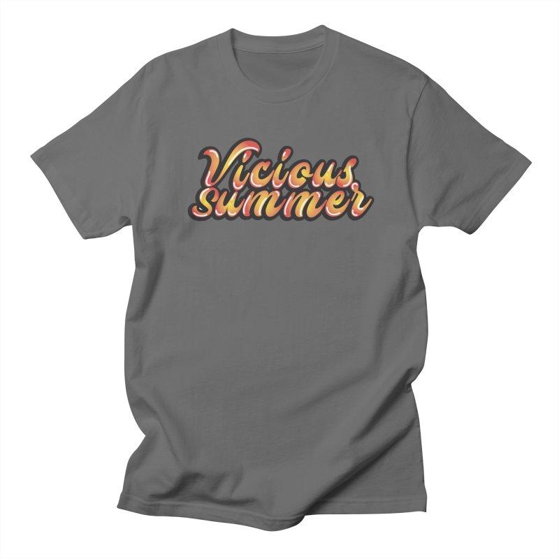 Vicious Summer Logo #1 Men's T-Shirt by RockIsland's Artist Shop