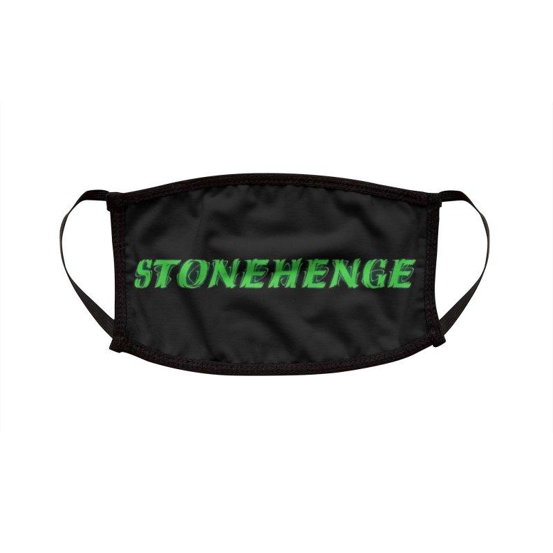 Stonehenge Logo #1 Accessories Face Mask by RockIsland's Artist Shop