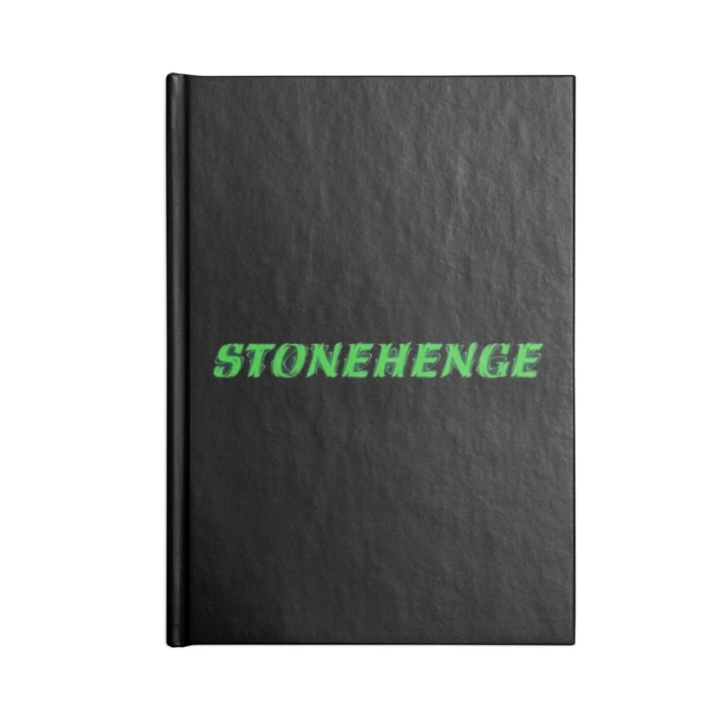 Stonehenge Logo #1 Accessories Notebook by RockIsland's Artist Shop