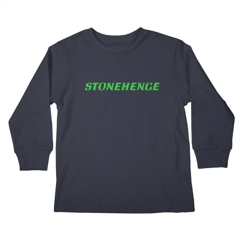 Stonehenge Logo #1 Kids Longsleeve T-Shirt by RockIsland's Artist Shop