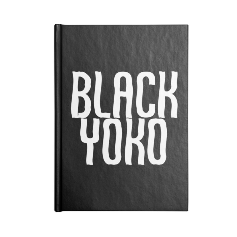 Black Yoko Logo #1 Accessories Notebook by RockIsland's Artist Shop