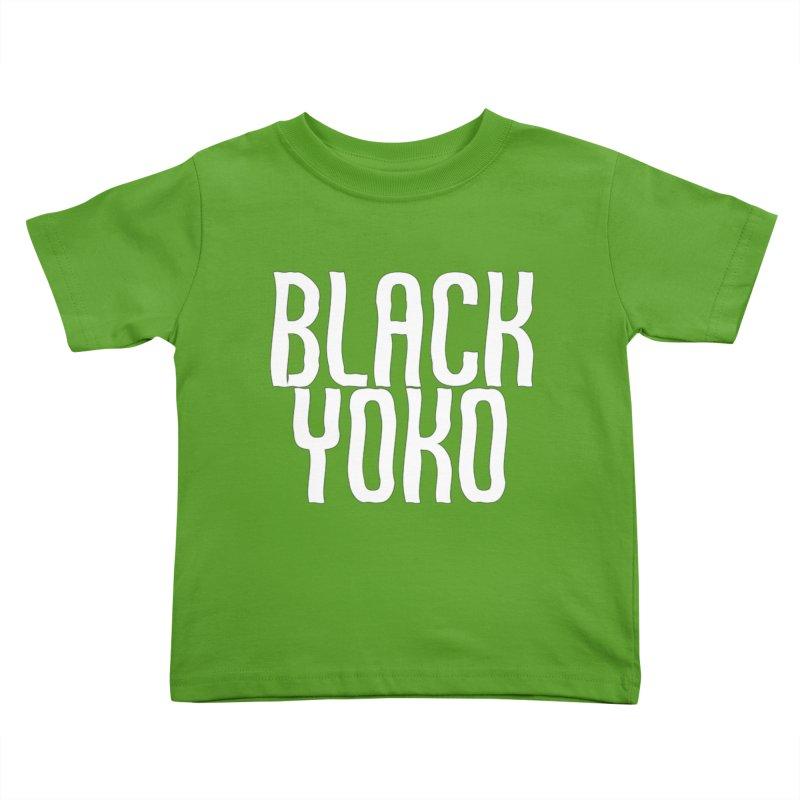 Black Yoko Logo #1 Kids Toddler T-Shirt by RockIsland's Artist Shop