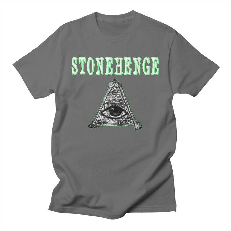 Stonehenge Logo #2 Men's T-Shirt by RockIsland's Artist Shop