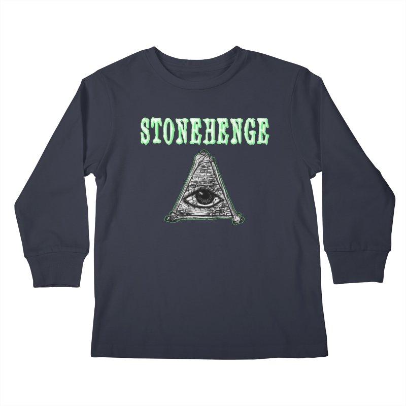 Stonehenge Logo #2 Kids Longsleeve T-Shirt by RockIsland's Artist Shop