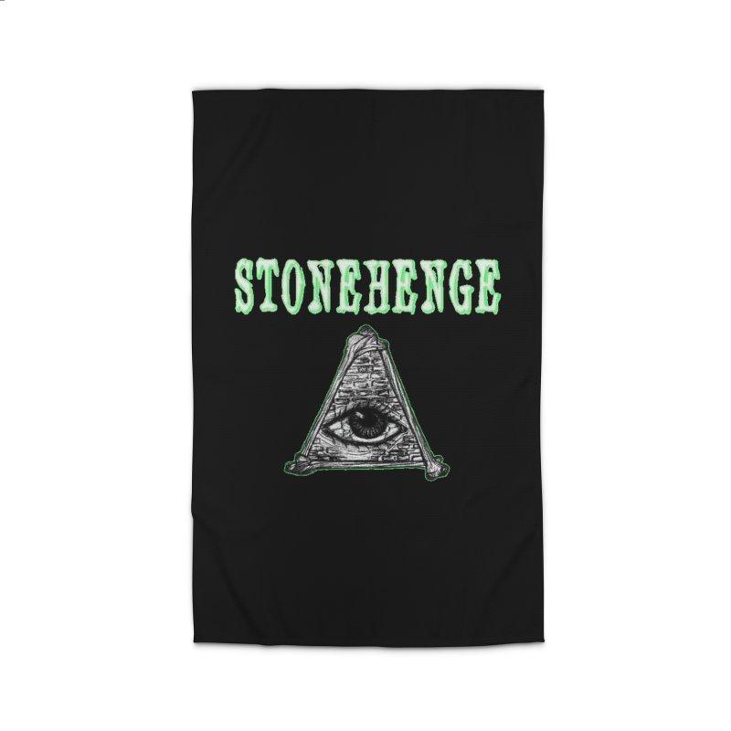Stonehenge Logo #2 Home Rug by RockIsland's Artist Shop