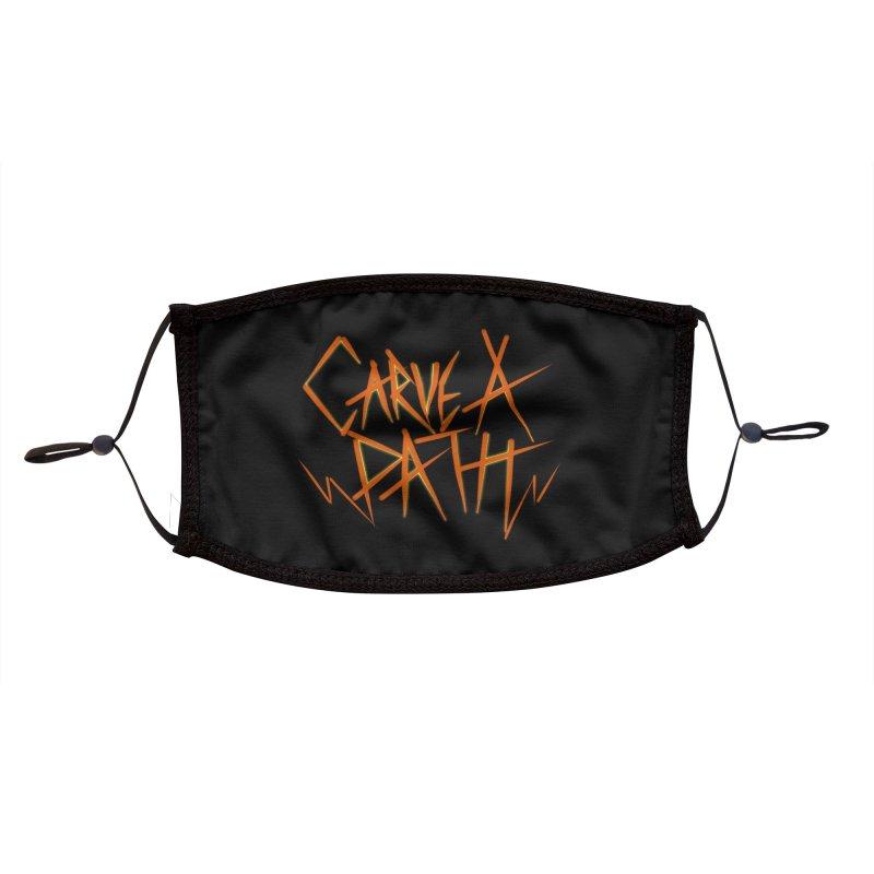 Carve A Path Logo #1 Accessories Face Mask by RockIsland's Artist Shop