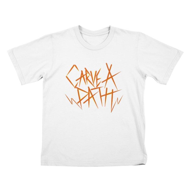 Carve A Path Logo #1 Kids T-Shirt by RockIsland's Artist Shop