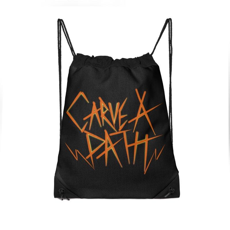 Carve A Path Logo #1 Accessories Bag by RockIsland's Artist Shop