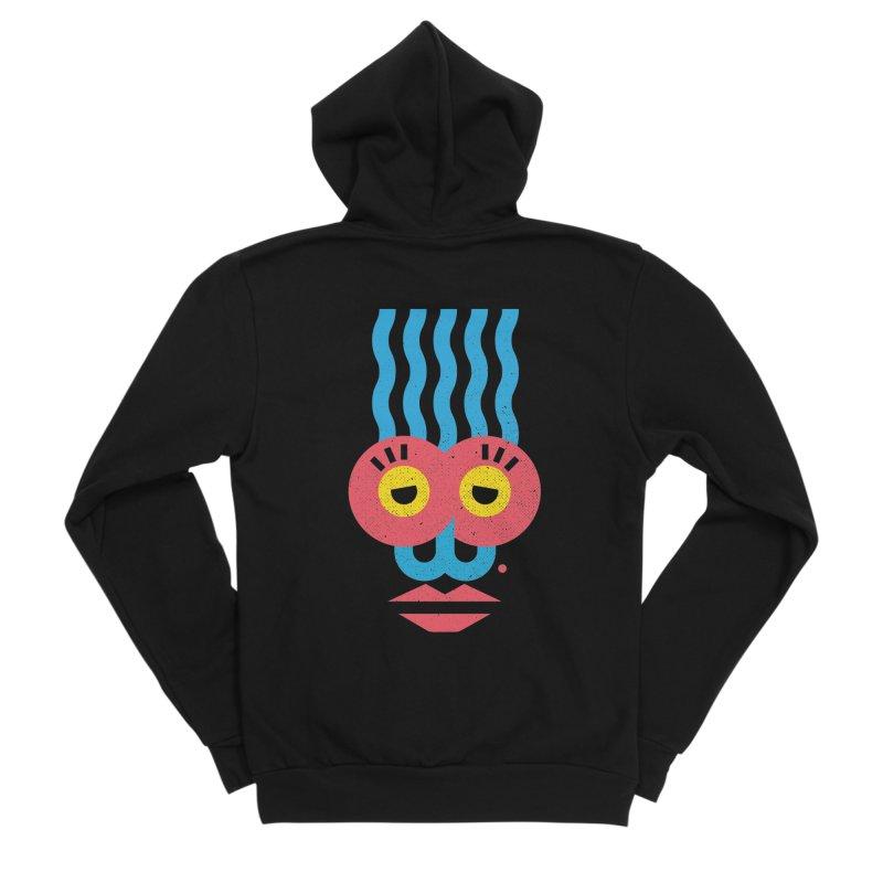 MonkeyLady Women's Sponge Fleece Zip-Up Hoody by Rocket Artist Shop