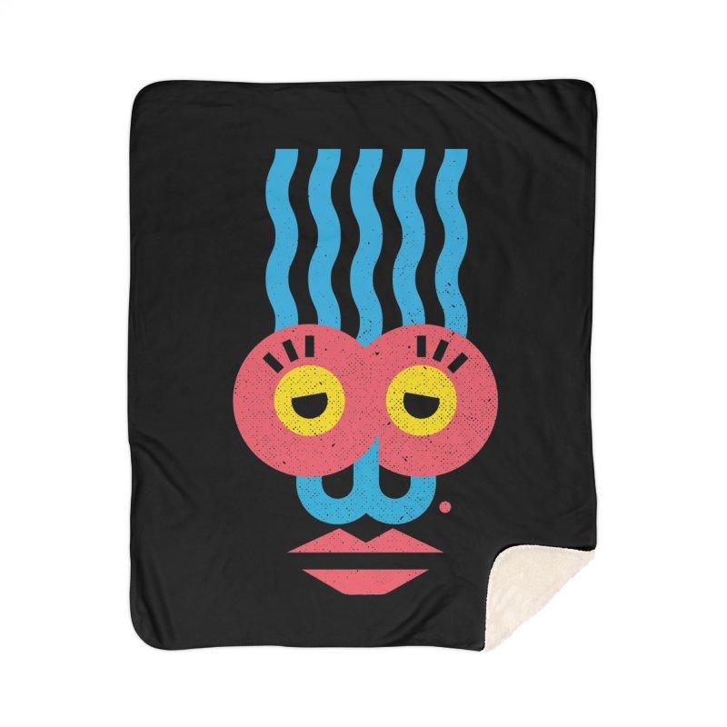 MonkeyLady Home Sherpa Blanket Blanket by Rocket Artist Shop