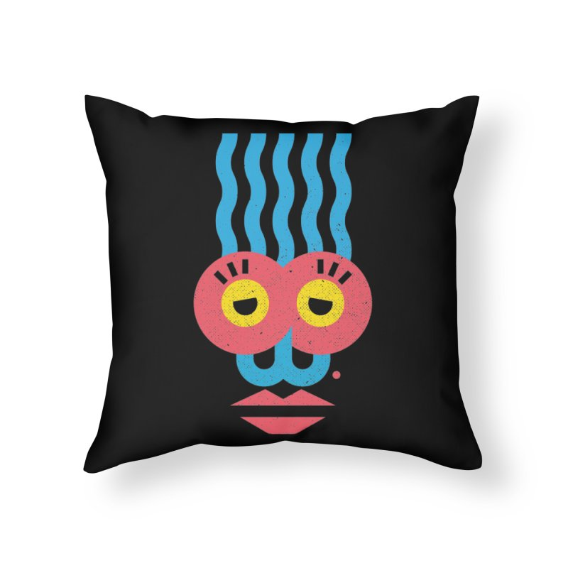 MonkeyLady Home Throw Pillow by Rocket Artist Shop