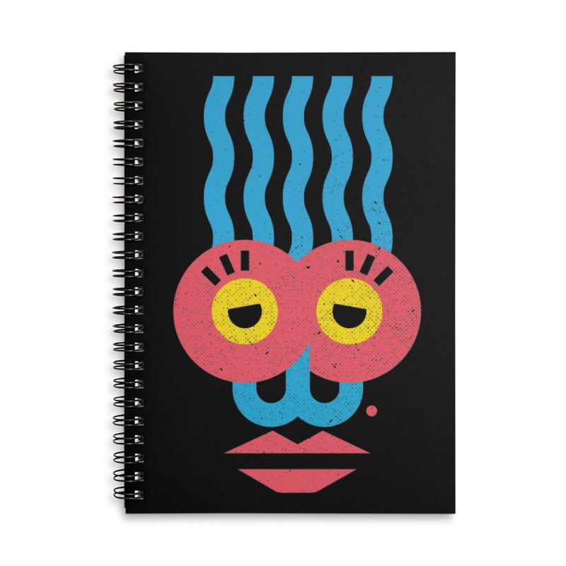 MonkeyLady Accessories Lined Spiral Notebook by Rocket Artist Shop