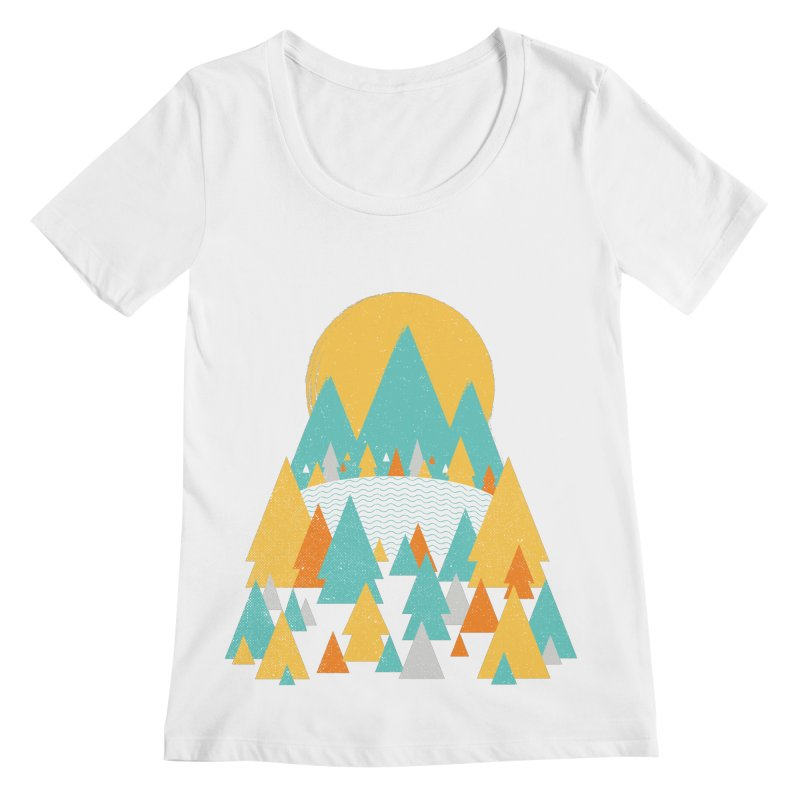 Magicland Women's Regular Scoop Neck by Rocket Artist Shop