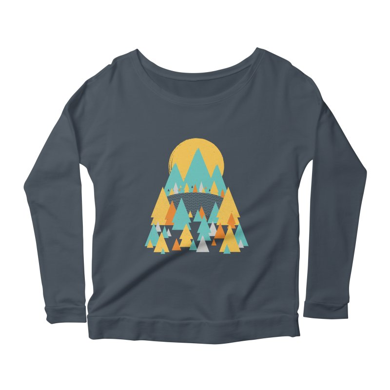 Magicland Women's Scoop Neck Longsleeve T-Shirt by Rocket Artist Shop