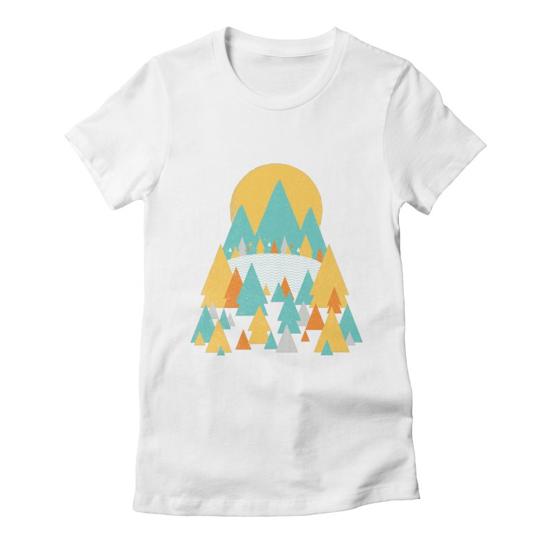 Magicland Women's Fitted T-Shirt by Rocket Artist Shop