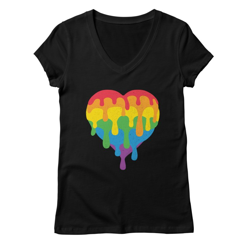 MeltLove Women's Regular V-Neck by Rocket Artist Shop