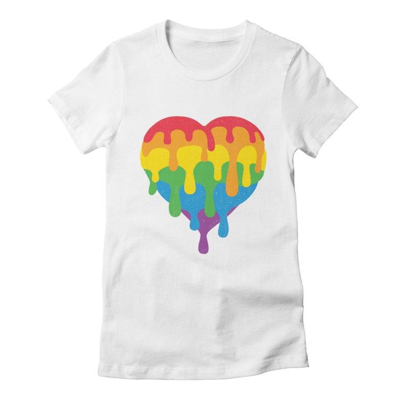MeltLove Women's Fitted T-Shirt by Rocket Artist Shop