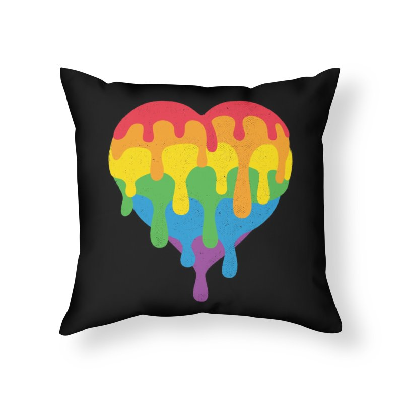 MeltLove Home Throw Pillow by Rocket Artist Shop