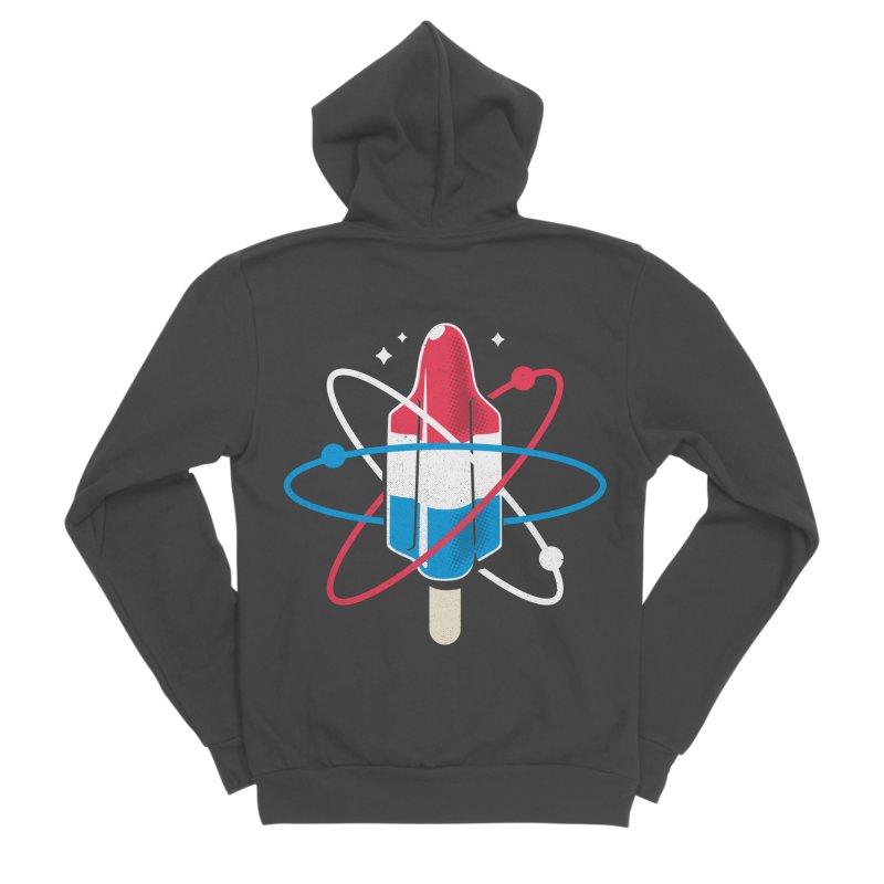 Pop Science Men's Sponge Fleece Zip-Up Hoody by Rocket Artist Shop