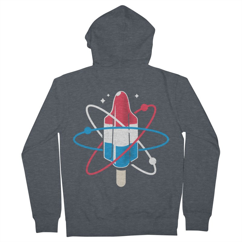 Pop Science Women's French Terry Zip-Up Hoody by Rocket Artist Shop