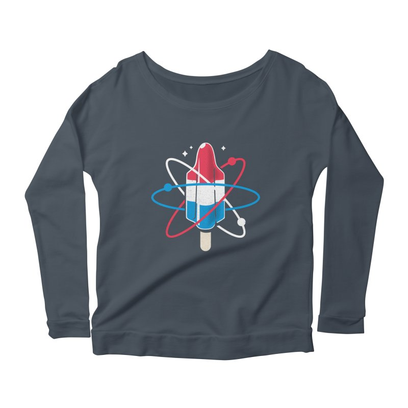 Pop Science Women's Scoop Neck Longsleeve T-Shirt by Rocket Artist Shop