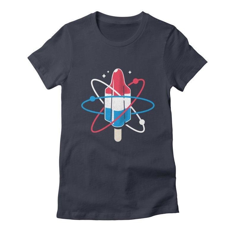 Pop Science Women's Fitted T-Shirt by Rocket Artist Shop