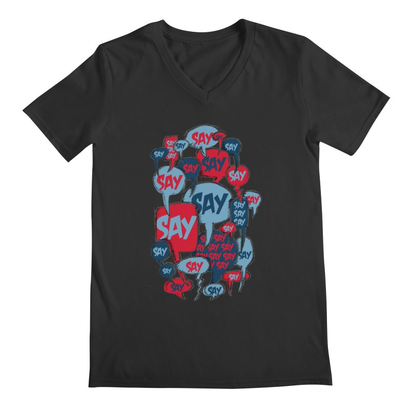 Say! Men's V-Neck by Rocket Artist Shop