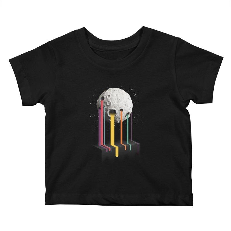 RainbowMoon Kids Baby T-Shirt by Rocket Artist Shop
