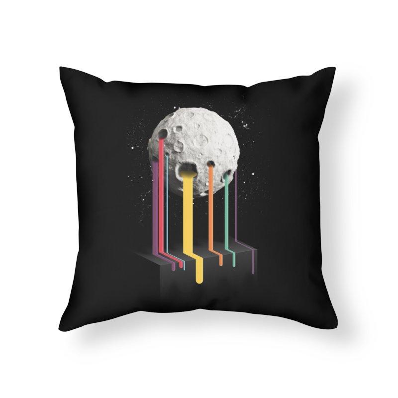 RainbowMoon Home Throw Pillow by Rocket Artist Shop