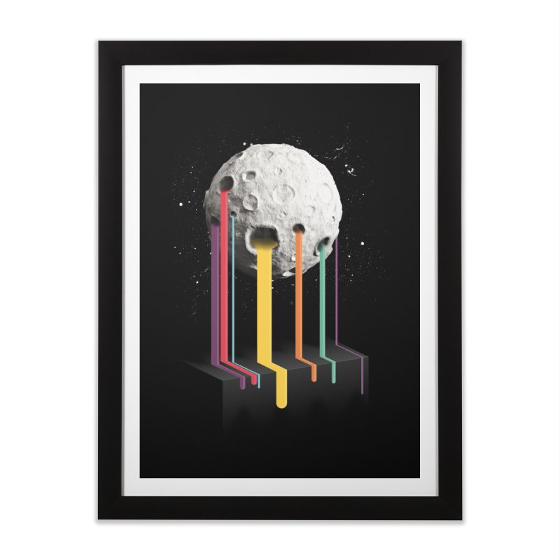 RainbowMoon Home Framed Fine Art Print by Rocket Artist Shop