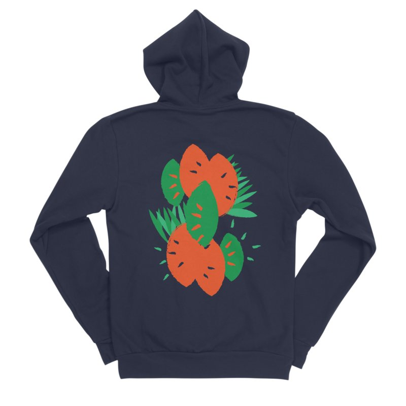 Tropical Mood Men's Sponge Fleece Zip-Up Hoody by Rocket Artist Shop