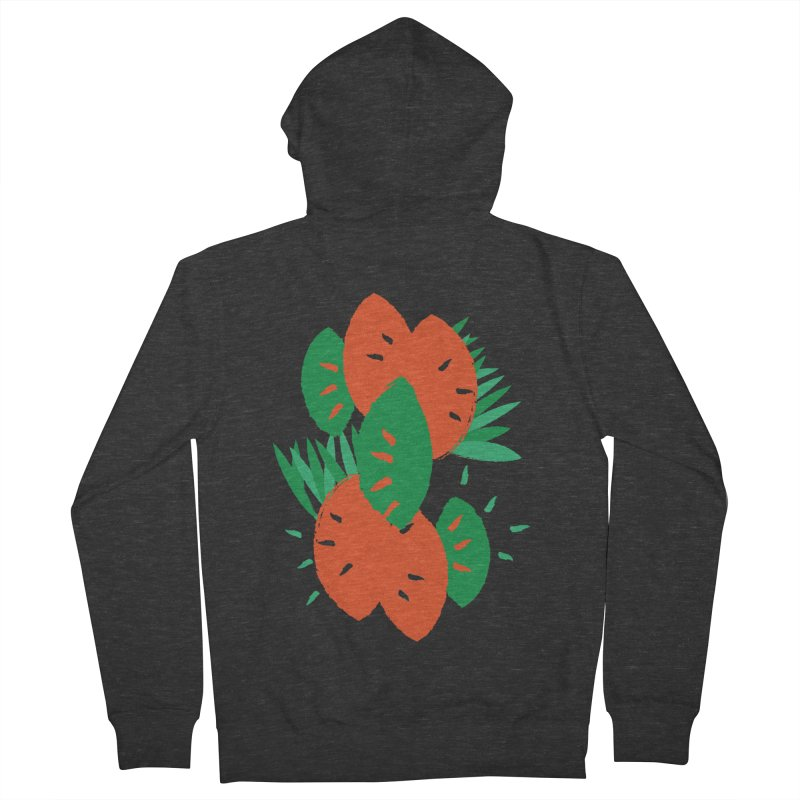 Tropical Mood Women's French Terry Zip-Up Hoody by Rocket Artist Shop