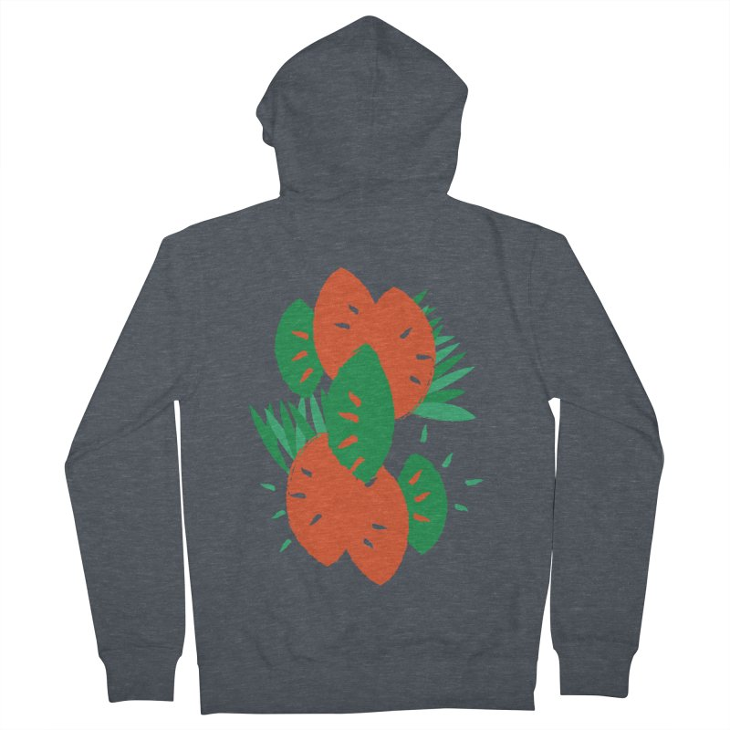 Tropical Mood Men's French Terry Zip-Up Hoody by Rocket Artist Shop