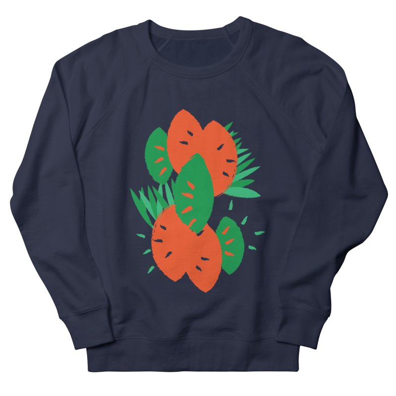 Tropical Mood Men's French Terry Sweatshirt by Rocket Artist Shop