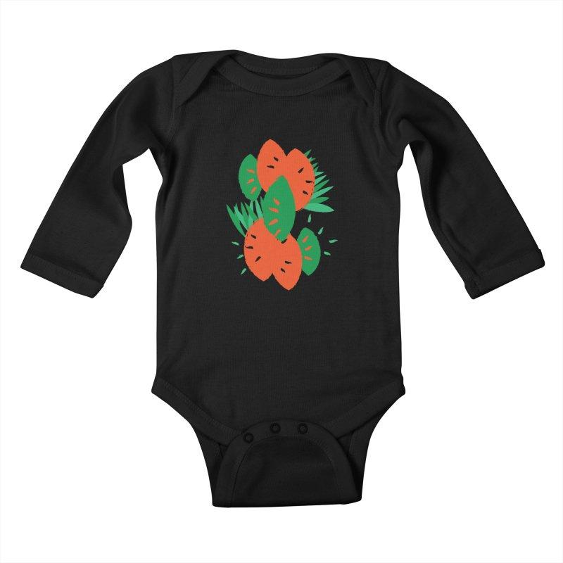 Tropical Mood Kids Baby Longsleeve Bodysuit by Rocket Artist Shop