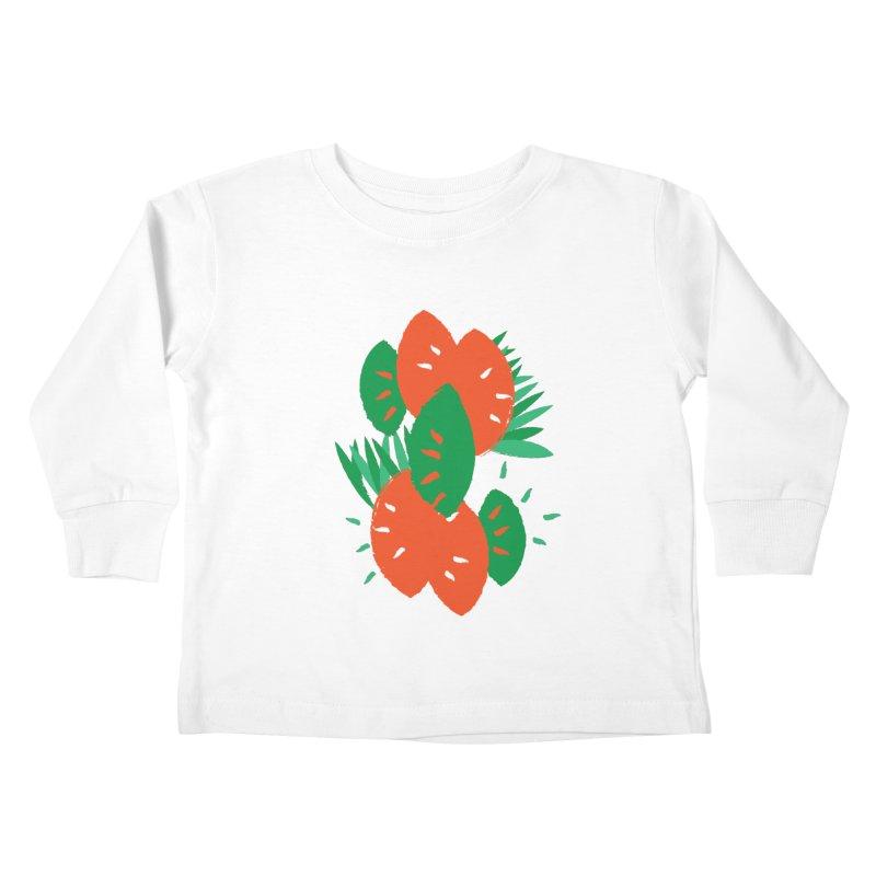 Tropical Mood Kids Toddler Longsleeve T-Shirt by Rocket Artist Shop