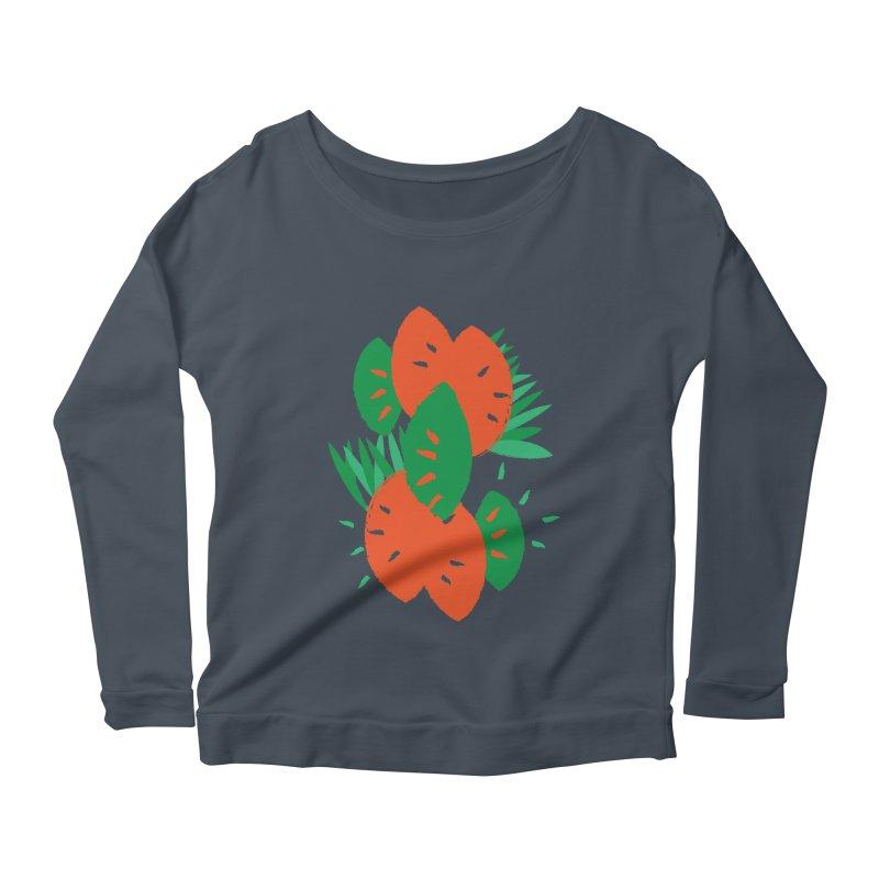 Tropical Mood Women's Scoop Neck Longsleeve T-Shirt by Rocket Artist Shop