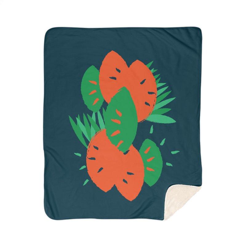 Tropical Mood Home Sherpa Blanket Blanket by Rocket Artist Shop