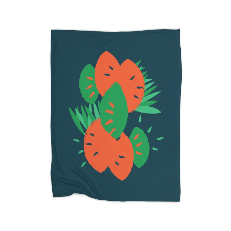 Tropical Mood Home Fleece Blanket Blanket by Rocket Artist Shop