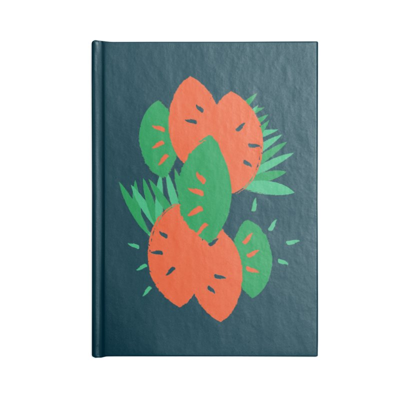 Tropical Mood Accessories Lined Journal Notebook by Rocket Artist Shop