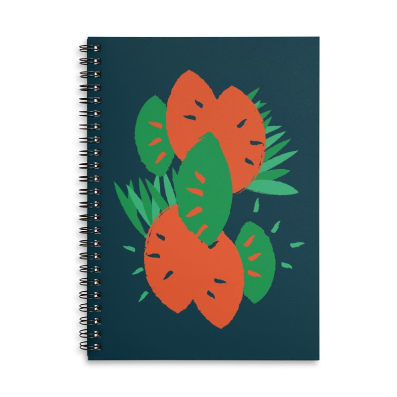 Tropical Mood Accessories Lined Spiral Notebook by Rocket Artist Shop