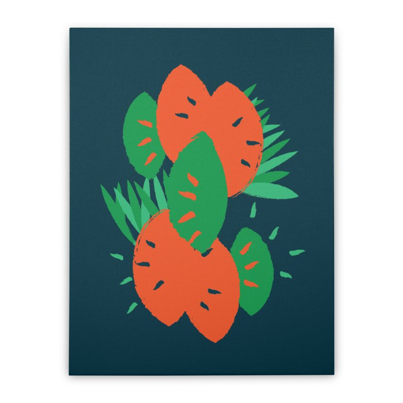 Tropical Mood Home Stretched Canvas by Rocket Artist Shop