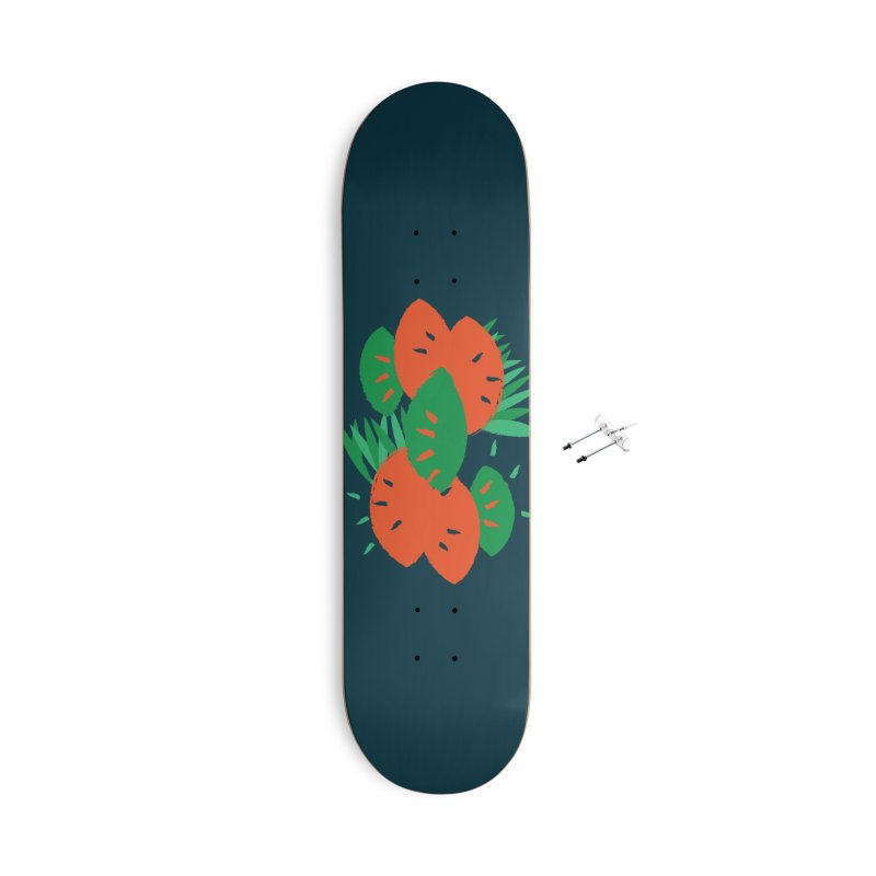 Tropical Mood Accessories With Hanging Hardware Skateboard by Rocket Artist Shop